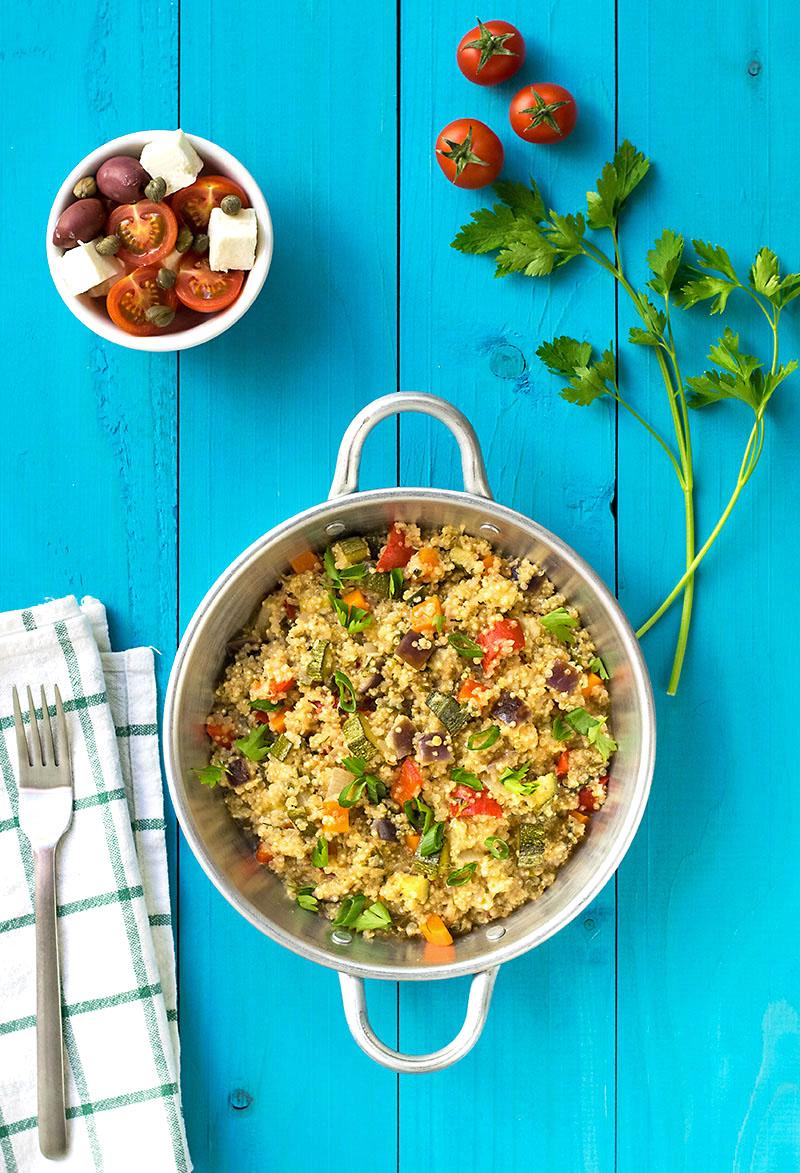 Mediterranean vegetable quinotto