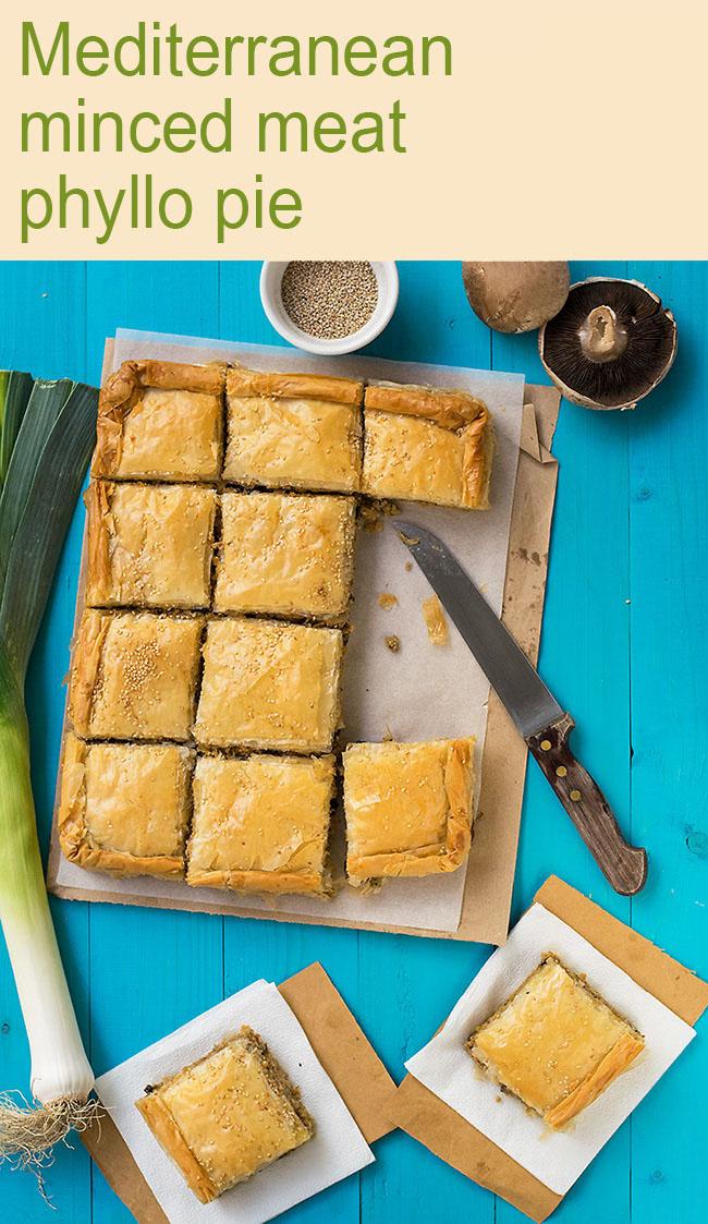 Mediterranean minced meat phyllo pie (kimadopita) 5
