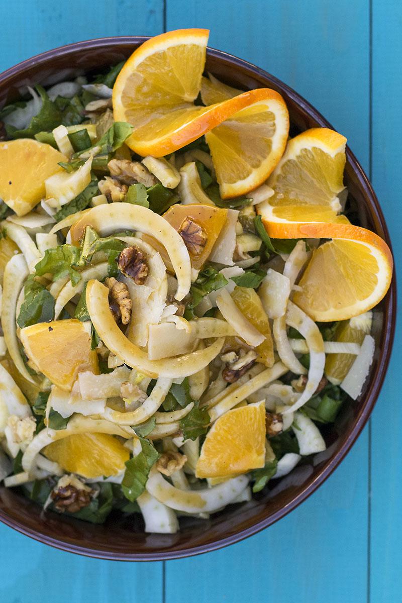 Shaved fennel, orange & ouzo salad 4
