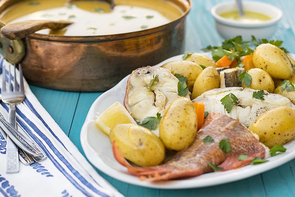 Greek fish soup with potatoes & vegetables (Psarosoupa) 5