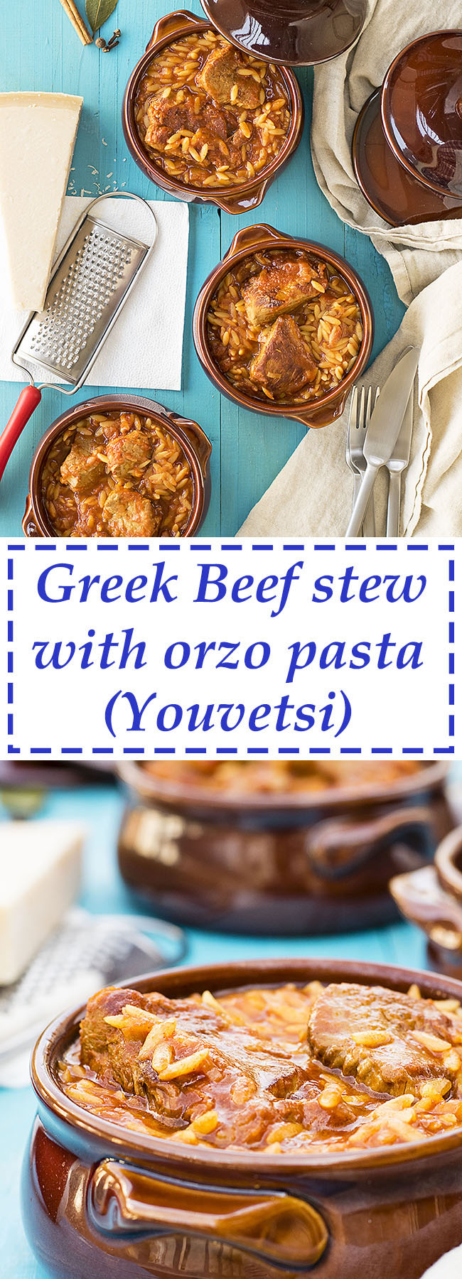 Greek beef stew with orzo pasta (Youvetsi) 5