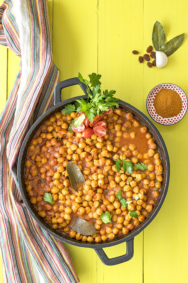 Easy Moroccan chickpea stew 1