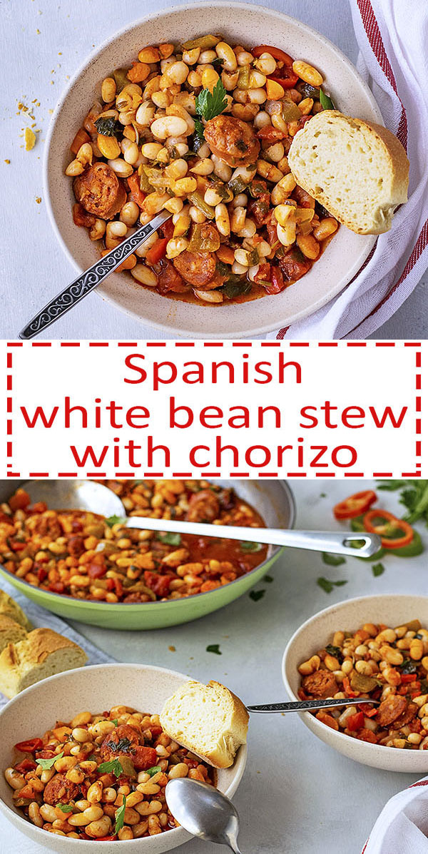 Spanish white bean stew with chorizo