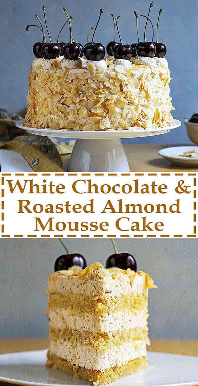 Roasted almond & white chocolate mousse cake (nougat torte) 11