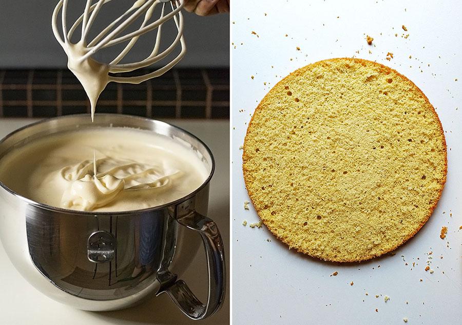Roasted almond & white chocolate mousse cake (nougat torte) 8