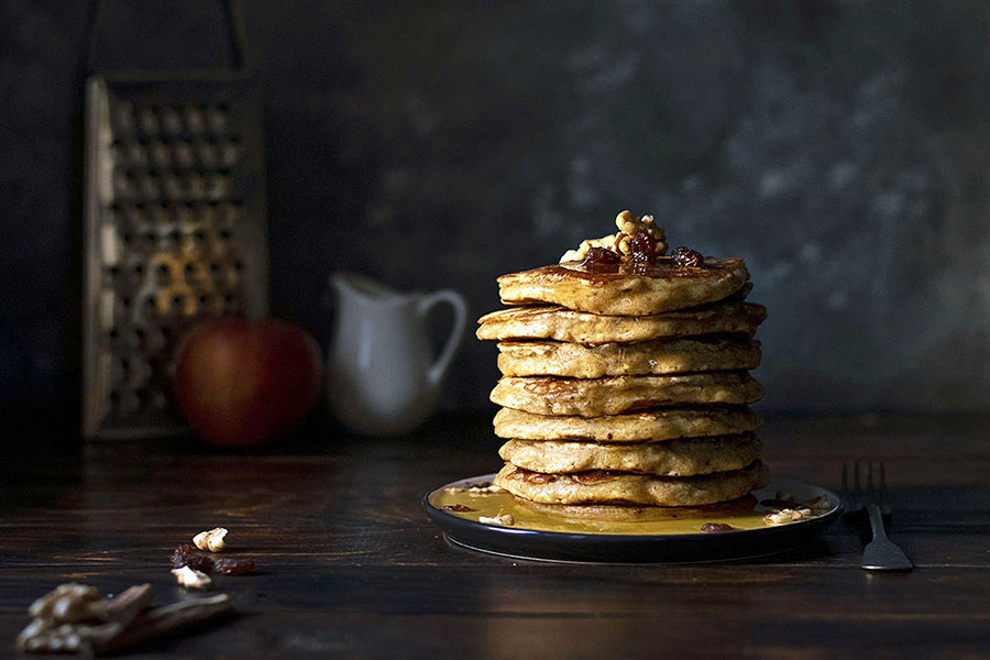 Best whole wheat, olive oil & grated apple pancakes 3