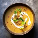 Easy red lentil and pumpkin velvet soup (Vegan) feat