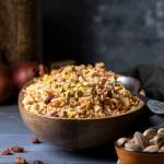 Lebanese Rice and Lentil Pilaf (Mujadara) - Vegan feat