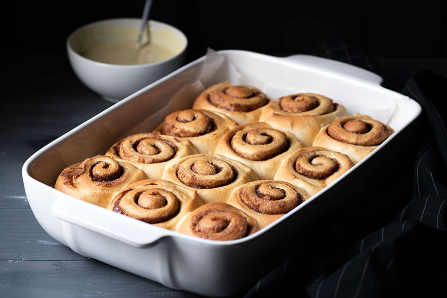 homemade cinnamon rolls recipe with the best icing 5