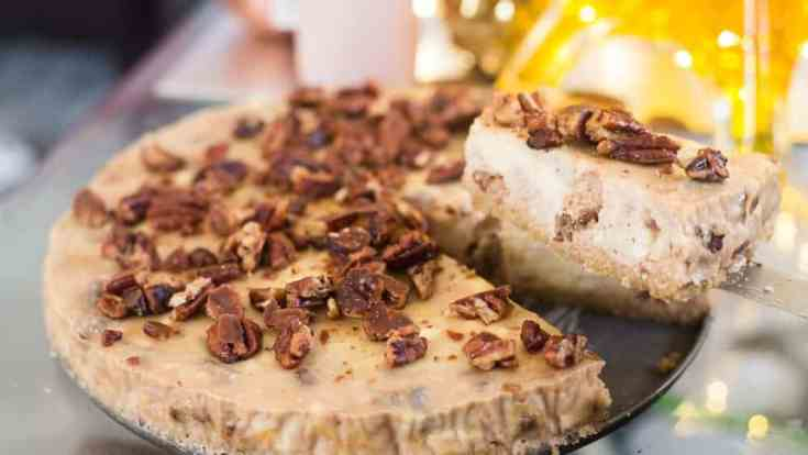 Keto Candied Pecan Cheesecake