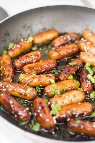 best keto appetizer, asian style cocktail sausages, keto sausage recipes, low carb sausage recipes,