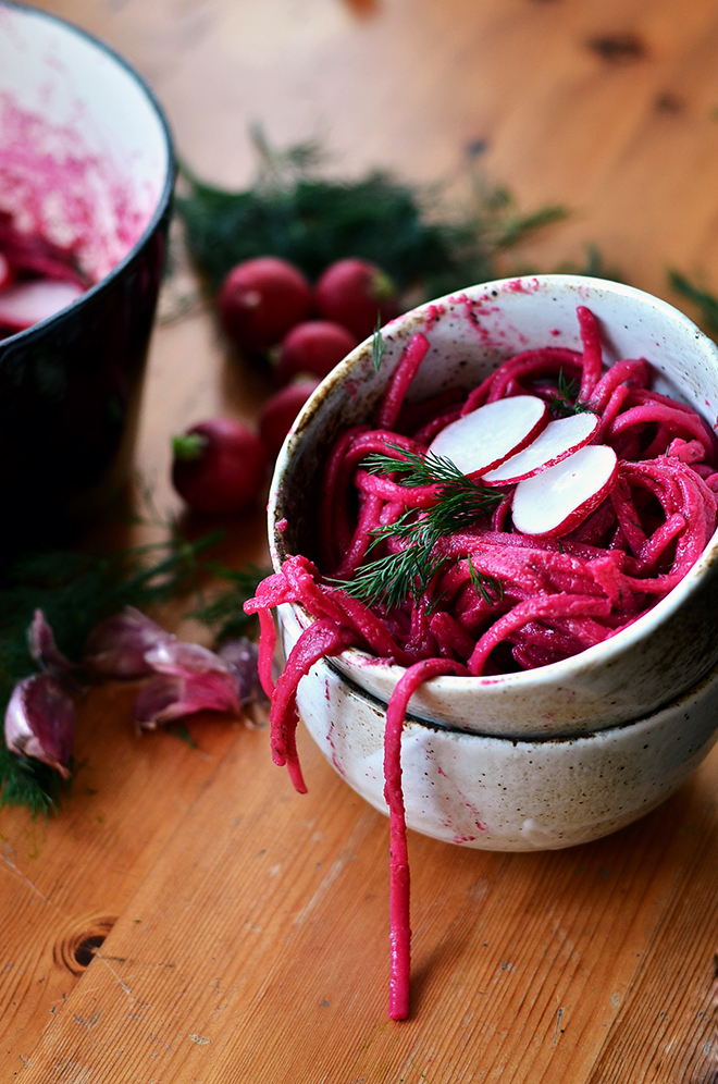 Creamy Beetroot & Dill Linguine