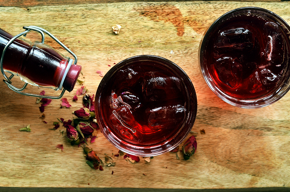 Healthy Hibiscus Rose Cordial The Hungry Herbivores