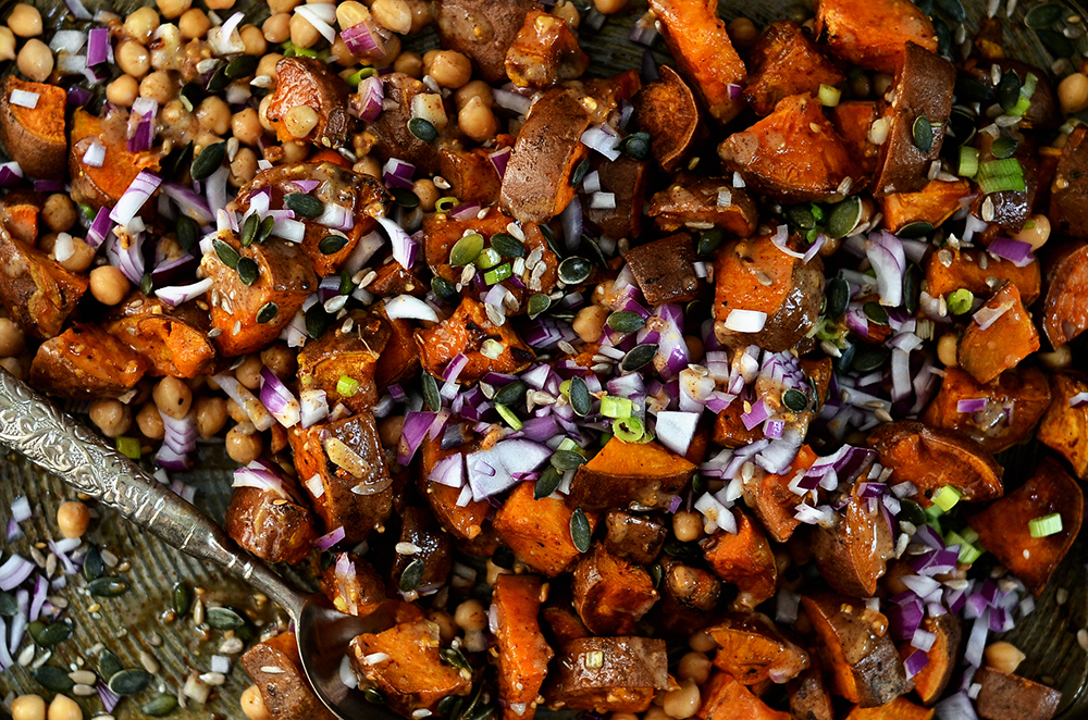 Almond Butter Sweet Potato Salad