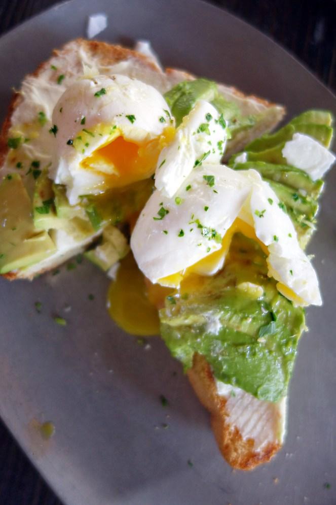 Avocado Toast: toast was hard and dry