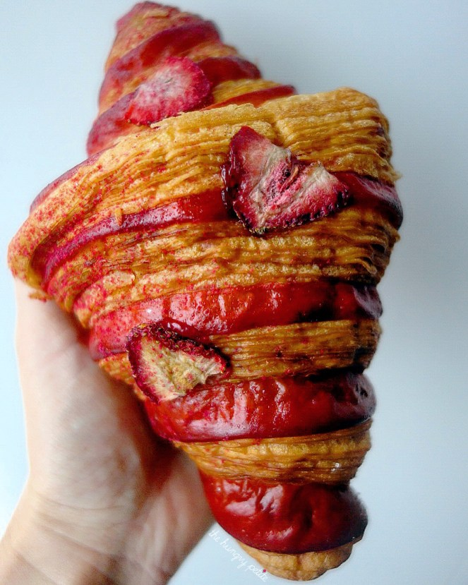 Lychee-Berry Jelly Bi-Color Croissant