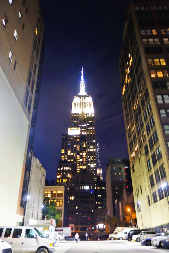 Empire State Building on our walk from KazuNori.