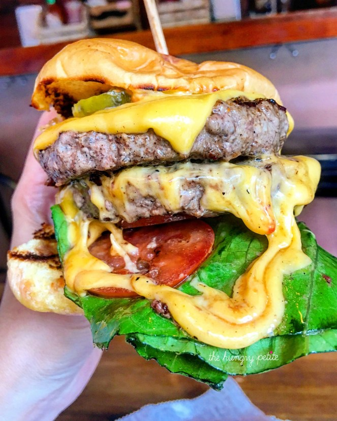 My double LES burger