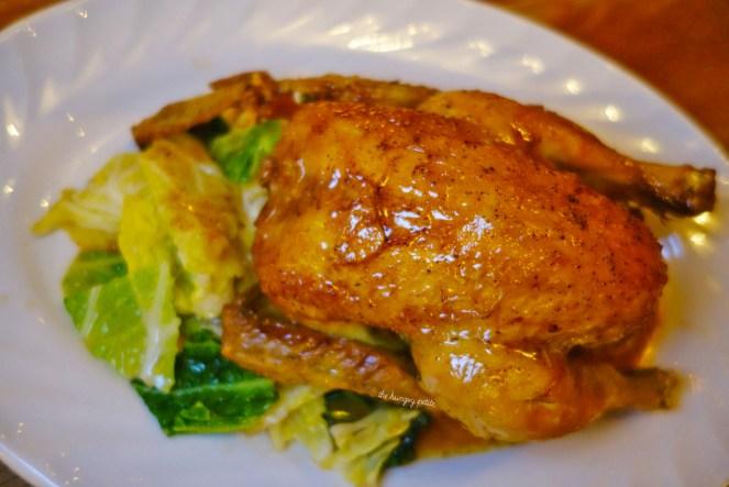 Coquelet Cafe Caron chicken - savoy, mousseline, beam mushroom