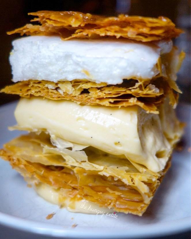 Tompouce: mille-feuille with lemon custard and vanilla