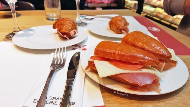 Monte Nevado Iberico and Serrano 24 ham sandwiches