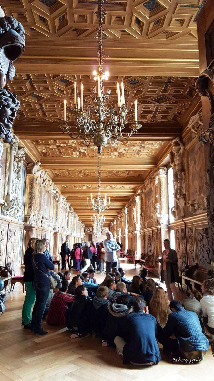 Story time inside the Château
