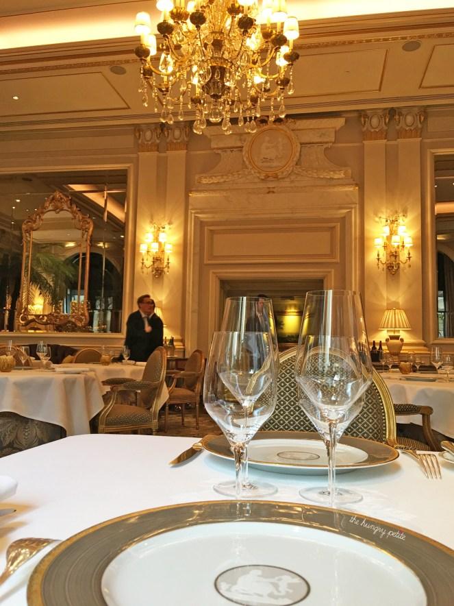 Le Cinq is a gorgeous restaurant inside the Four Seasons George V Hotel off the Champs-Élysées