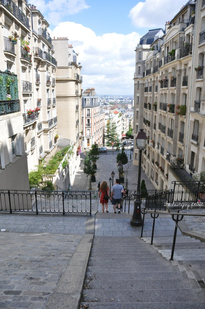 Lots of stairways on Montmartre. Regrettably I did not take a photo of the most famous steps