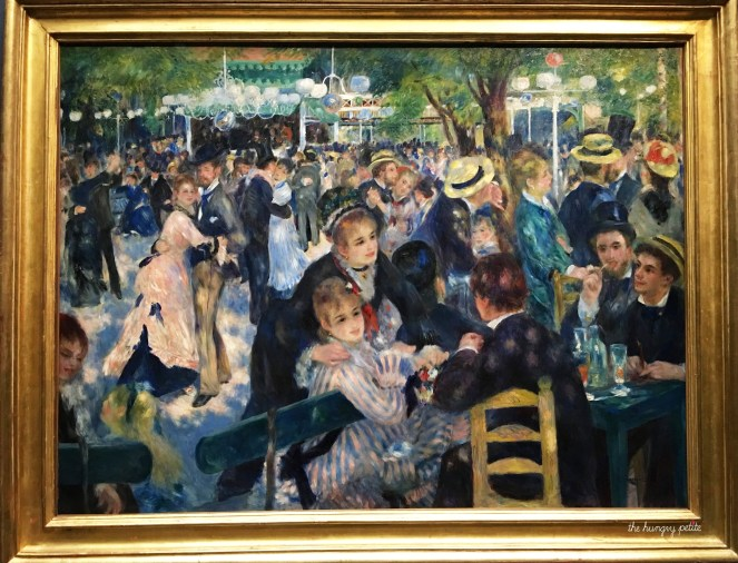 Looking through my photos from my three trips to Paris, this is the one painting at the Orsay that I took a photo of on each trip. Bal du moulin de la Galette by Pierre-Auguste Renoir