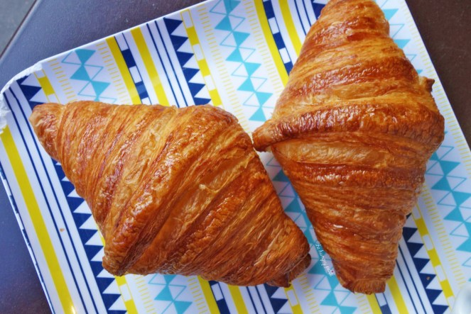 Two perfect Blé Sucré croissants