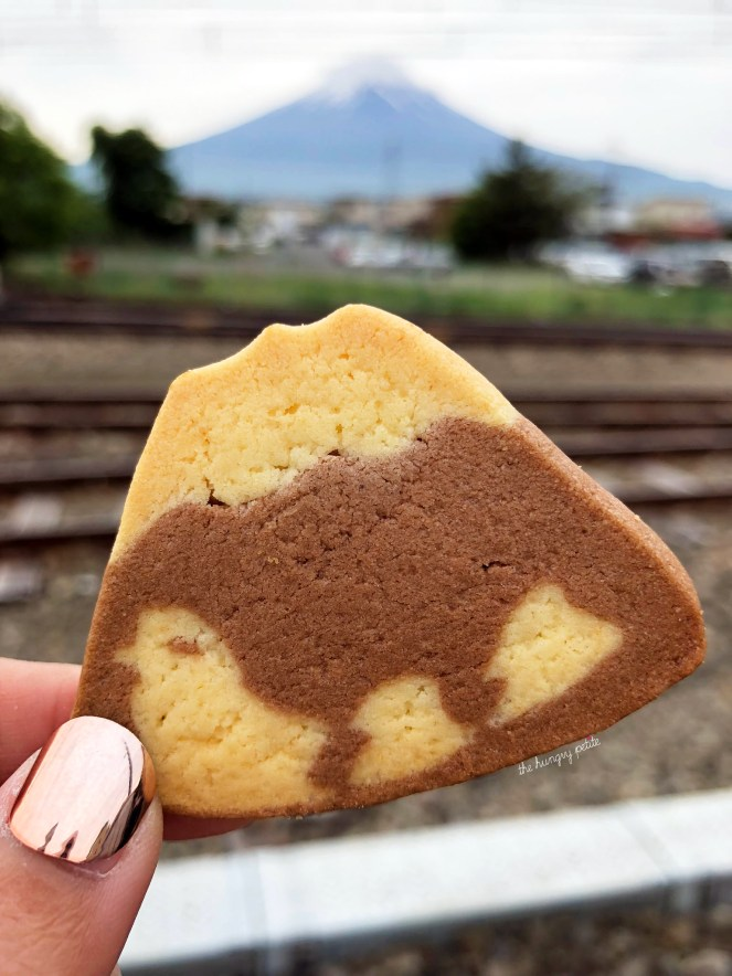 Mt Fuji souvenir shortbread cookies. These looked a lot cuter on the packaging (the ducks actually looked like ducks). If you want to buy Mt. Fuji cookies, get the Fujiyama ones.