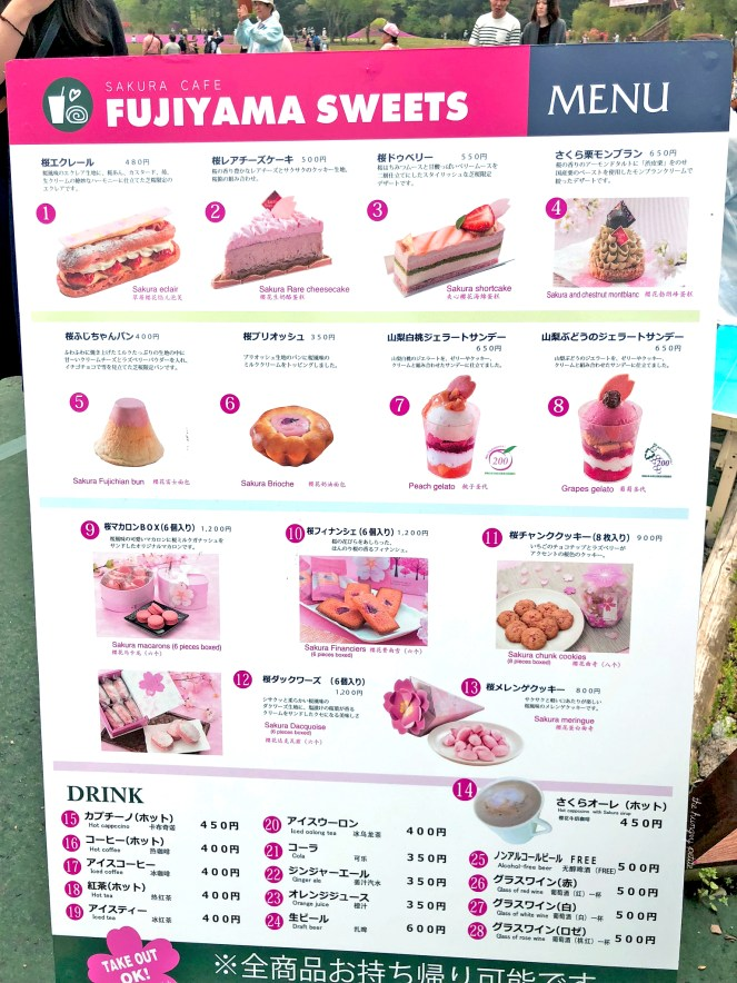 Here's a list of all the sakura treats you can get at the Shibazakura Festival.