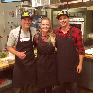 Cooking challenge with Tammer Foust and Scott Speed
