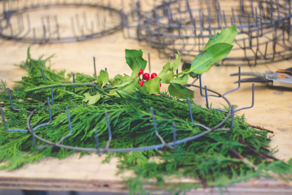 wreath making the hutch oven