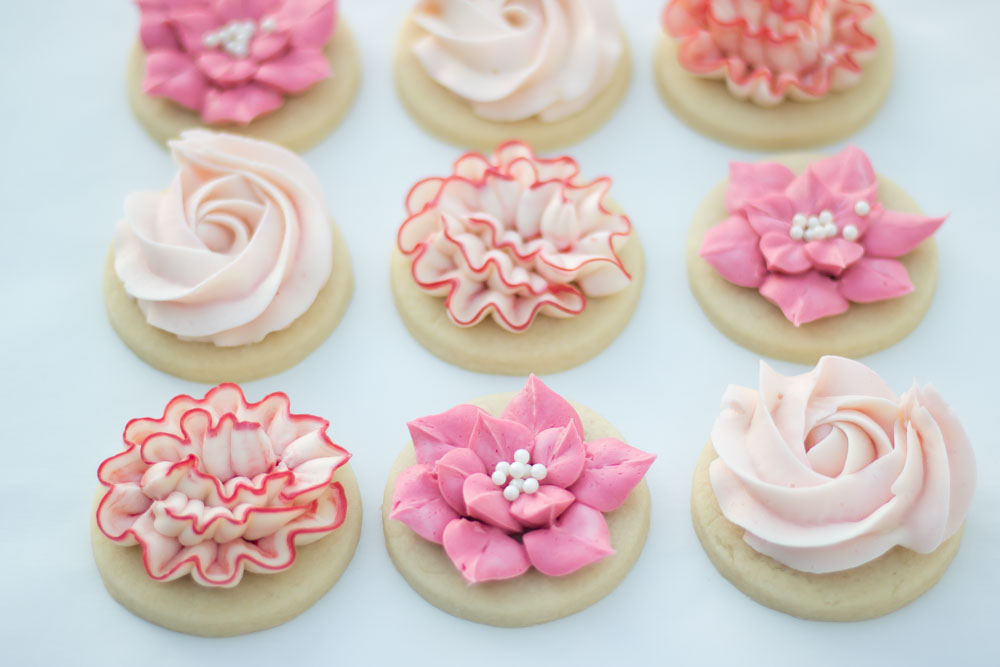 buttercream frosted flower cookies the hutch oven