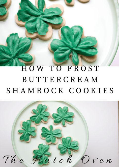 How to frost shamrock cookies for St. Patrick's day