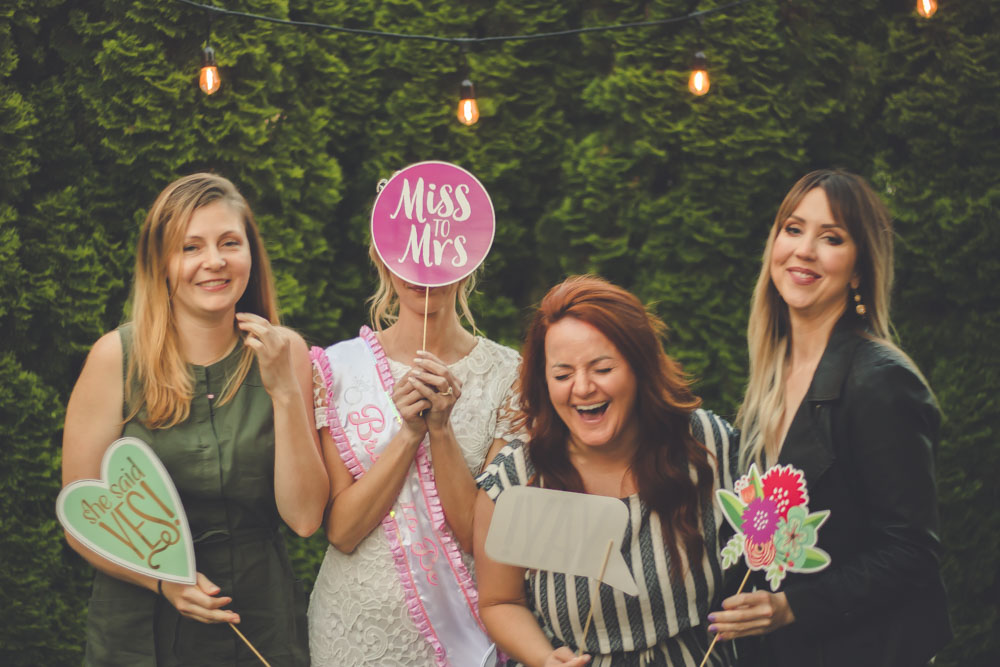 Bridal shower photo booth