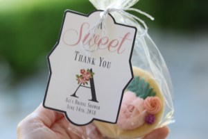 bridal shower party cookies