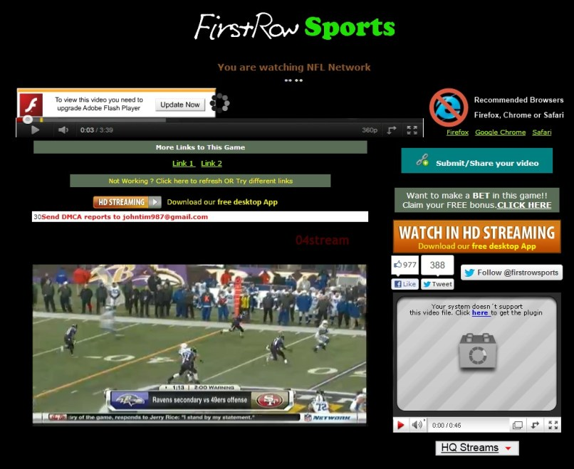 Firstrow Live Football