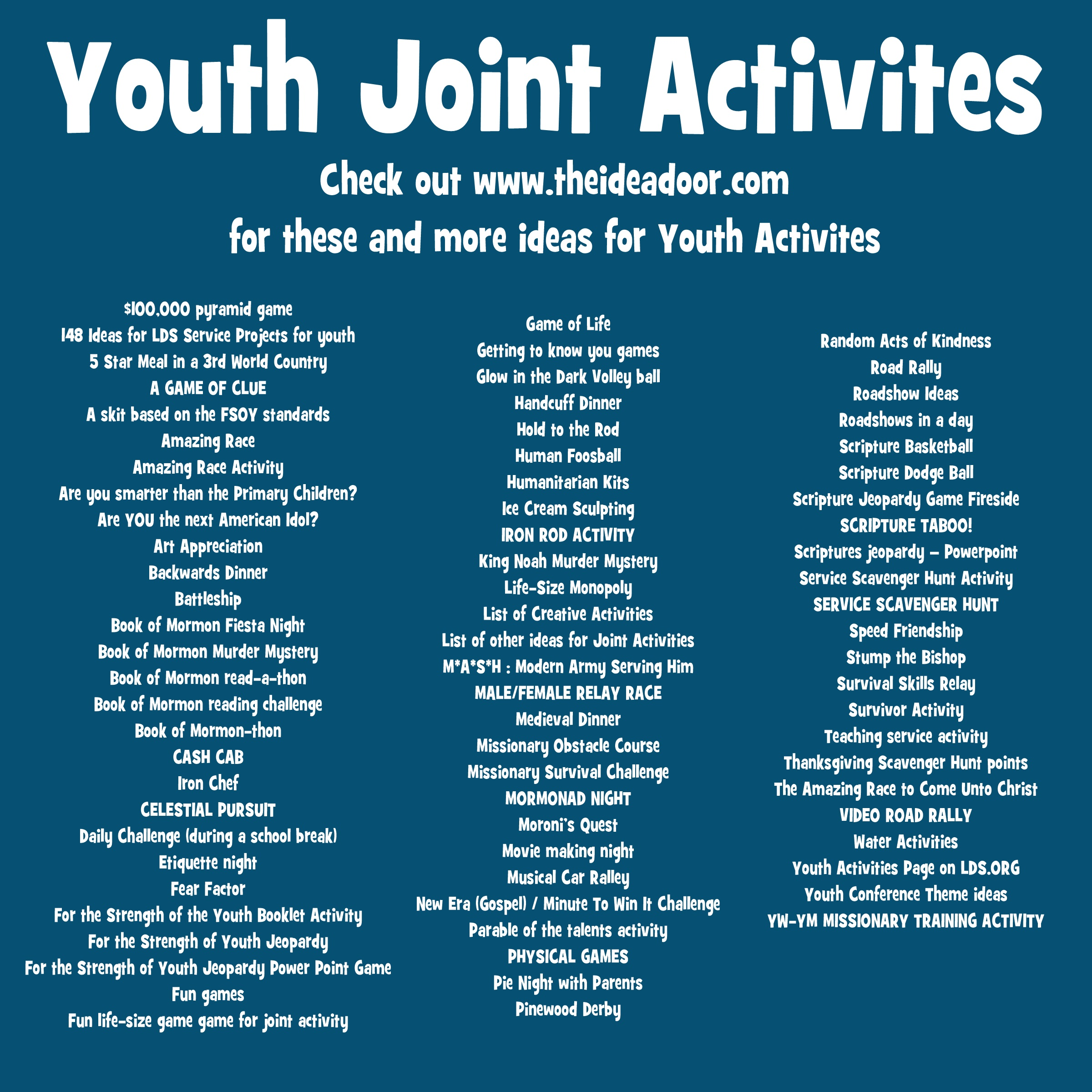 Youth Joint Activities The Idea Door