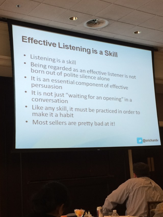 Effective listening will help every inside salesperson gather the right information they need from potential customers to help them close more deals.
