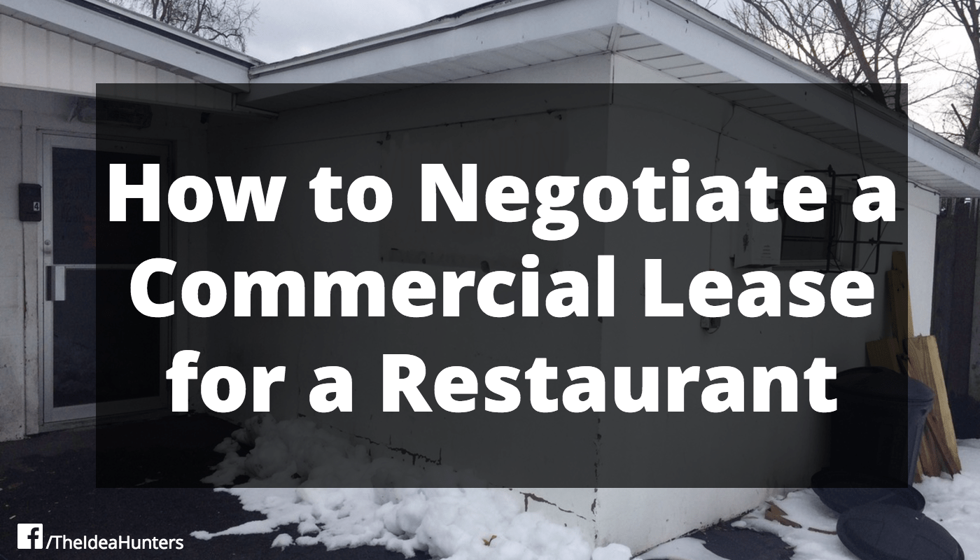 How to Negotiate a Commercial Lease for a Restaurant