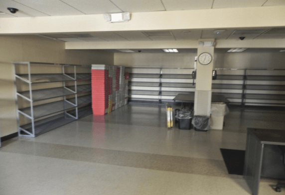 Mail sorting room/dead storage space at 833 Broadway, Albany, NY. Click the image to learn more about this office space for lease.