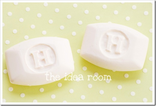 monogrammed soap two