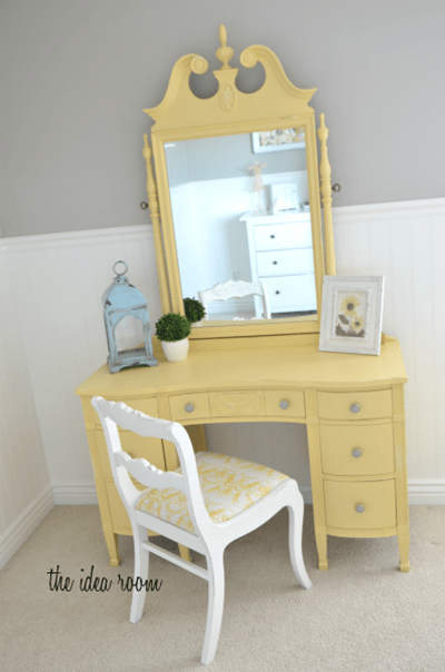 Yellow paint color for furniture