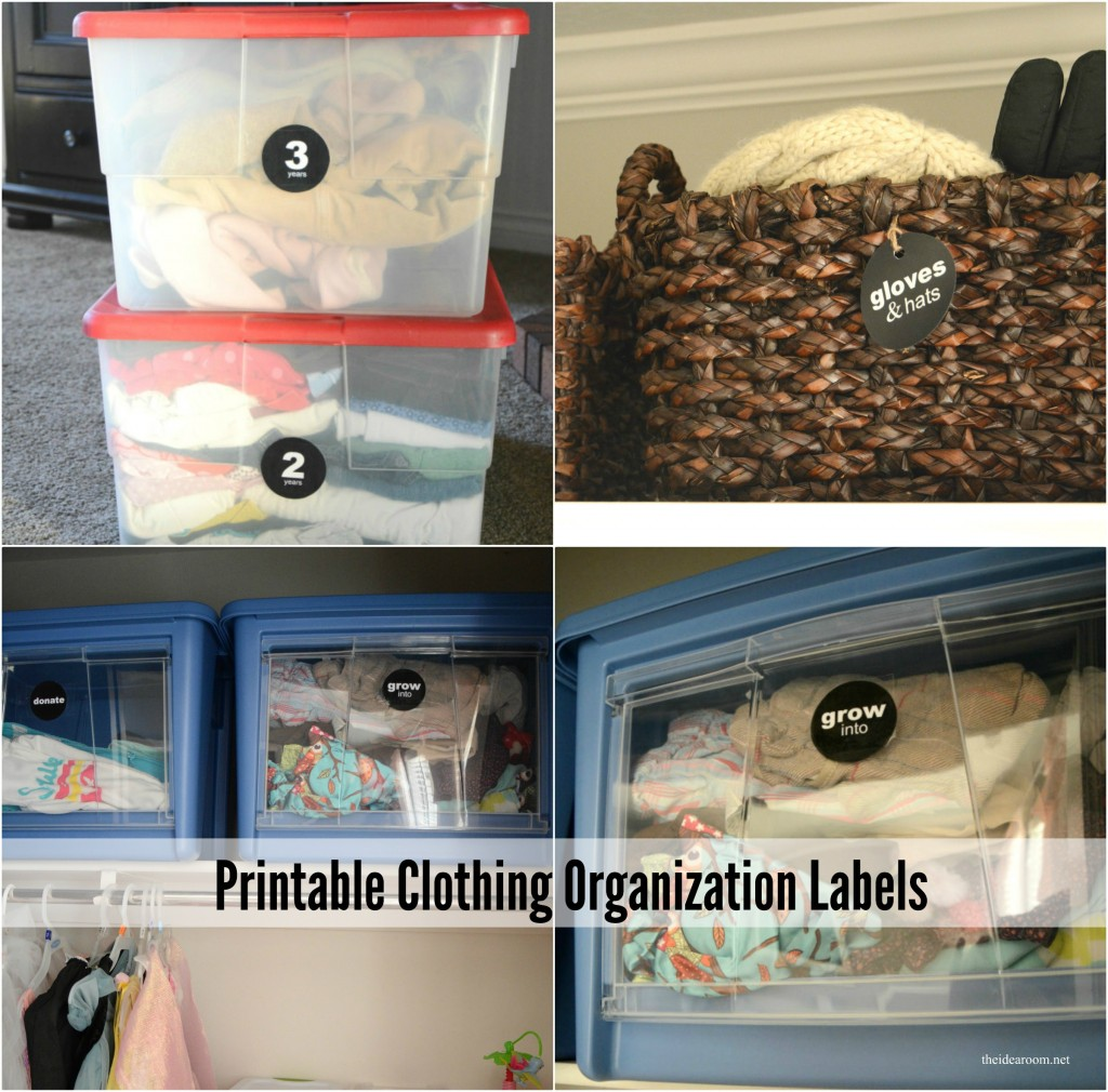 Printable Clothing Organization Labels