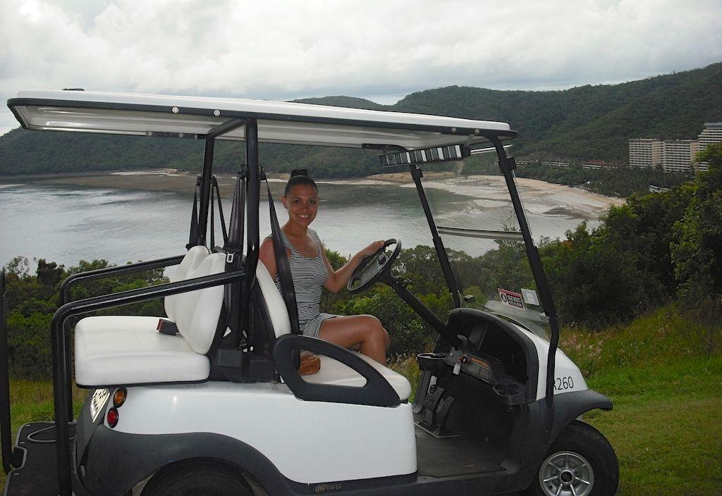 golf buggy in Hamilton Island, Australia, happy place