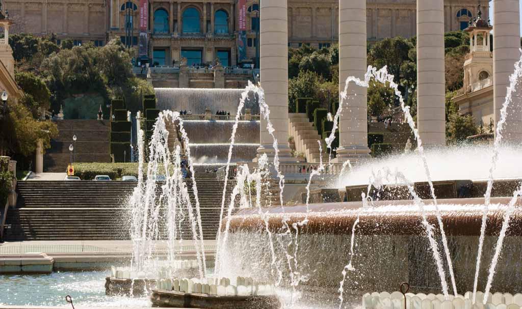 magic fountain in Barcelona, Spain