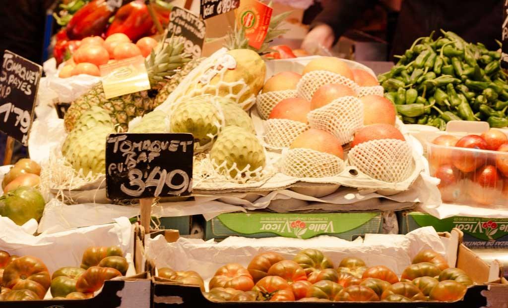 Barcelona market, boqueria, Spain