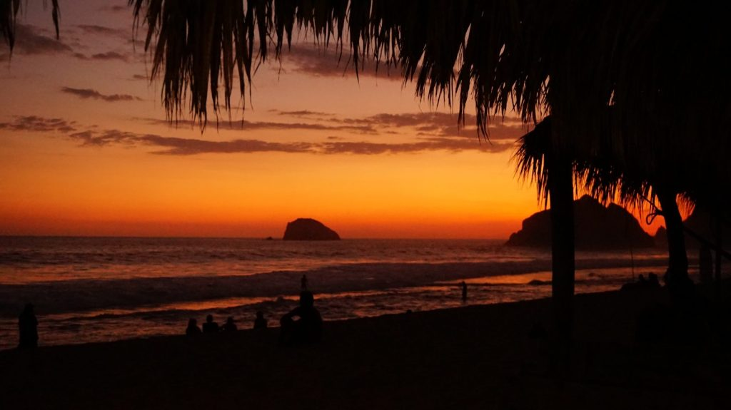 Sunset in Zipolite, Mexico - Wellness Travel